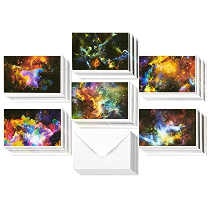 Amazon 48 pack all occasion greeting cards assorted blank 48 pack all occasion greeting cards assorted blank note cards bulk box set cosmic designs m4hsunfo Gallery
