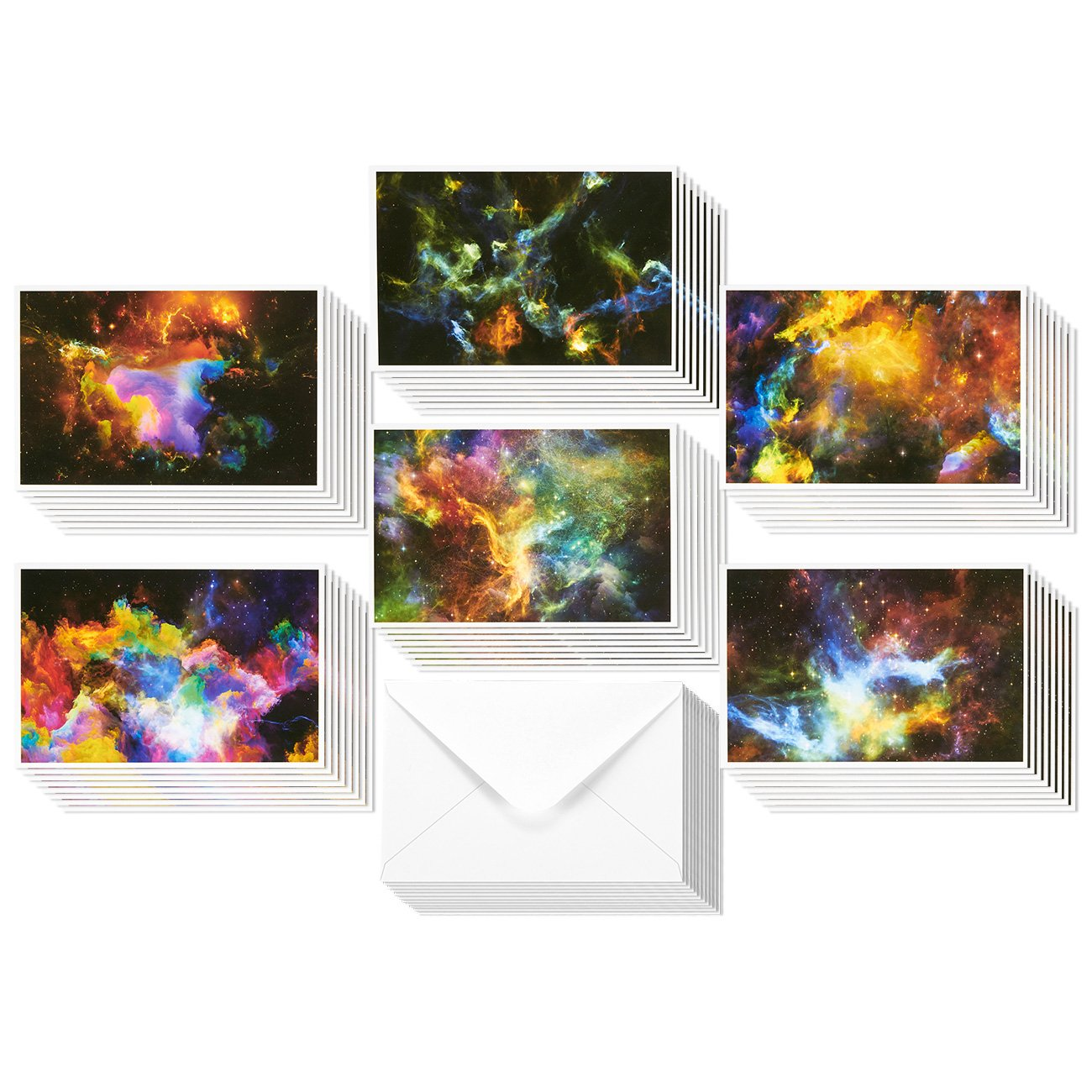 Amazon majestic scenery 36 note cards 6 designs blank 48 pack all occasion greeting cards assorted blank note cards bulk box set cosmic designs kristyandbryce Image collections
