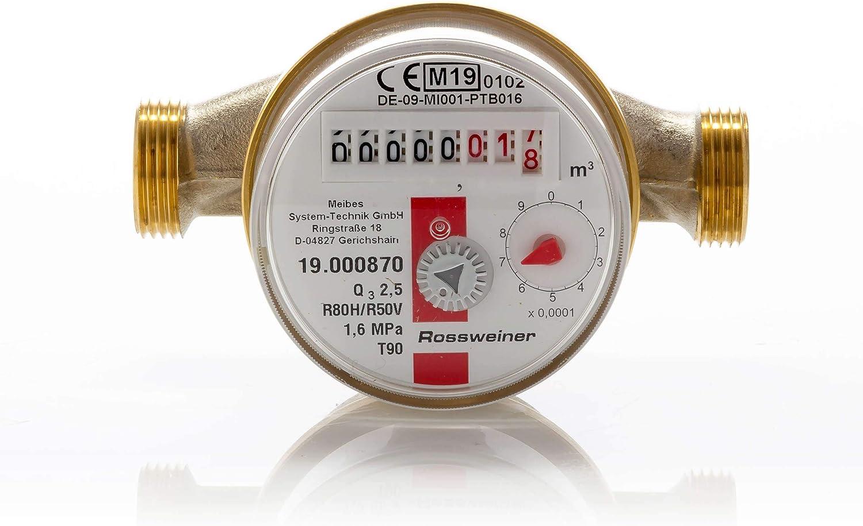 1270051b3 wohnungs de agua Contador Aufputz para agua caliente, Q3 ...