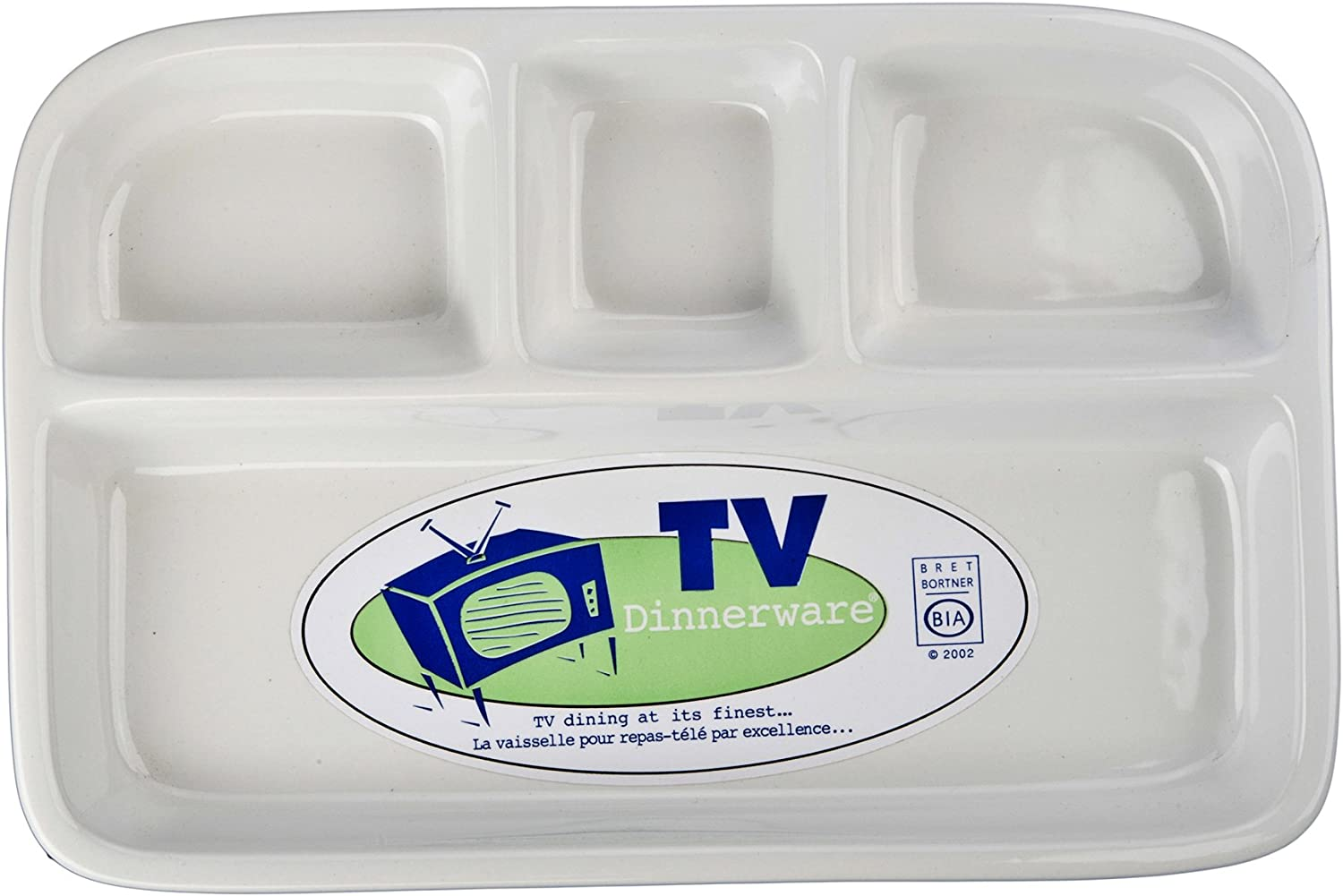 BIA White Divided TV Tray