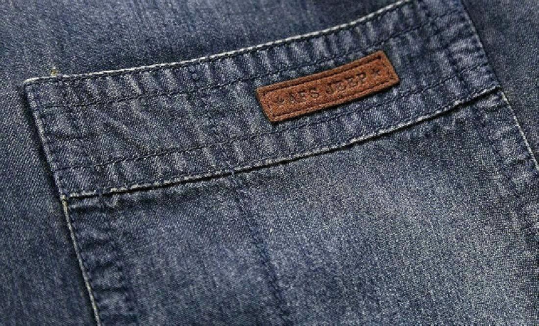 Abetteric Mens Loose Cotton Jean Autumn Casual Long Sleeve Tees Shirt