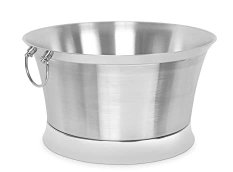 Amazon.com: Bañera redonda de doble pared, L: Kitchen & Dining