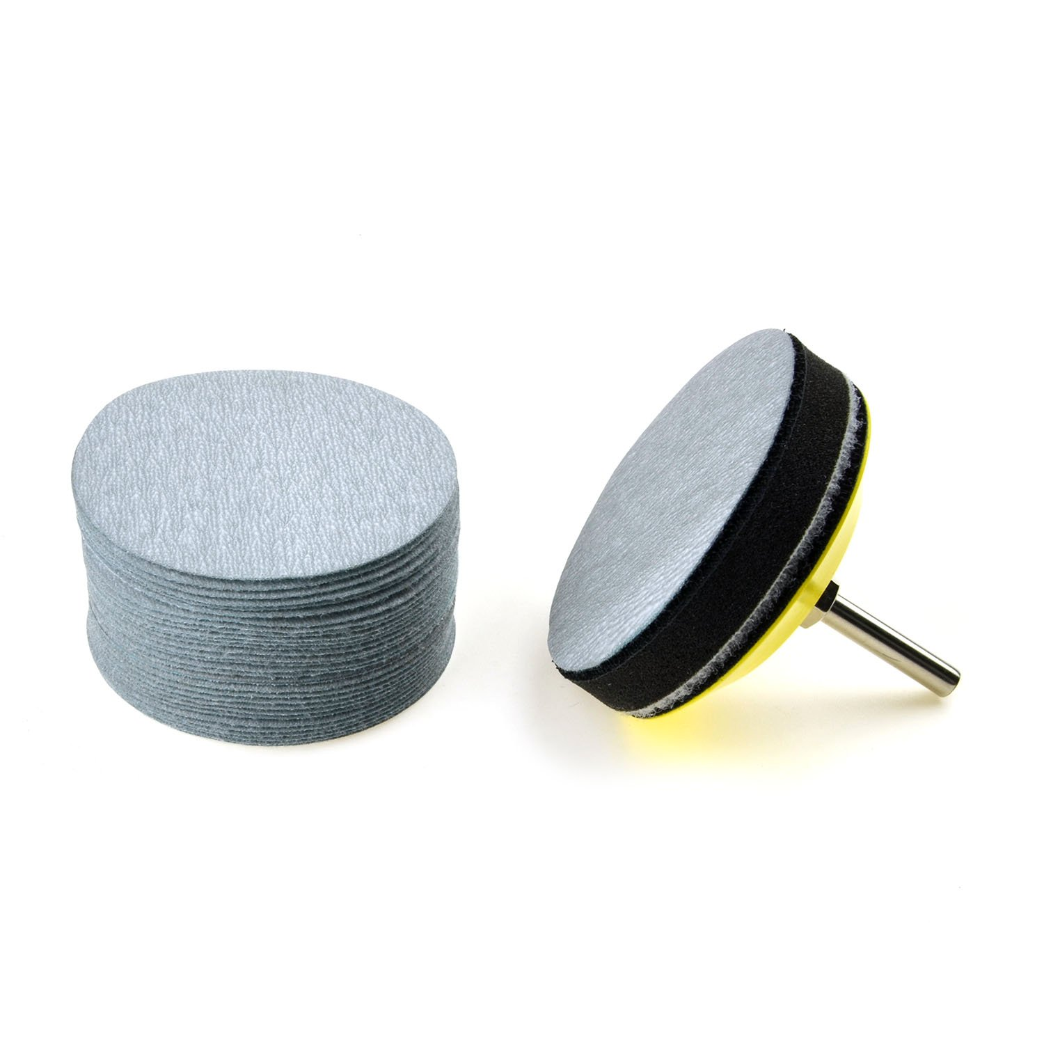 30-Pack Soft Foam Buffering Pad for DIY Woodworking 3 inches 5000 Grit Aluminum Oxide Extra Fine Wet//Dry Hook and Loop Sanding Discs with a 1//4 inch Shank Backing Pad