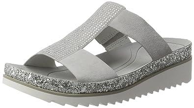 Flip Flop Pantolette, mit Glitter, grau, EURO-Größen, hellgrau