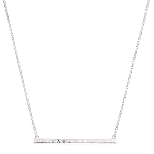 Silpada Dotted Line Necklace with Swarovski Crystals in Sterling Silver