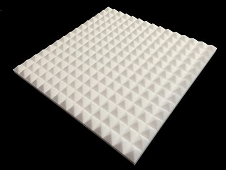 Advanced Acoustics mel-acoustic pirámide 40 mm blanco melamina espuma acústica Panel 600 x 600