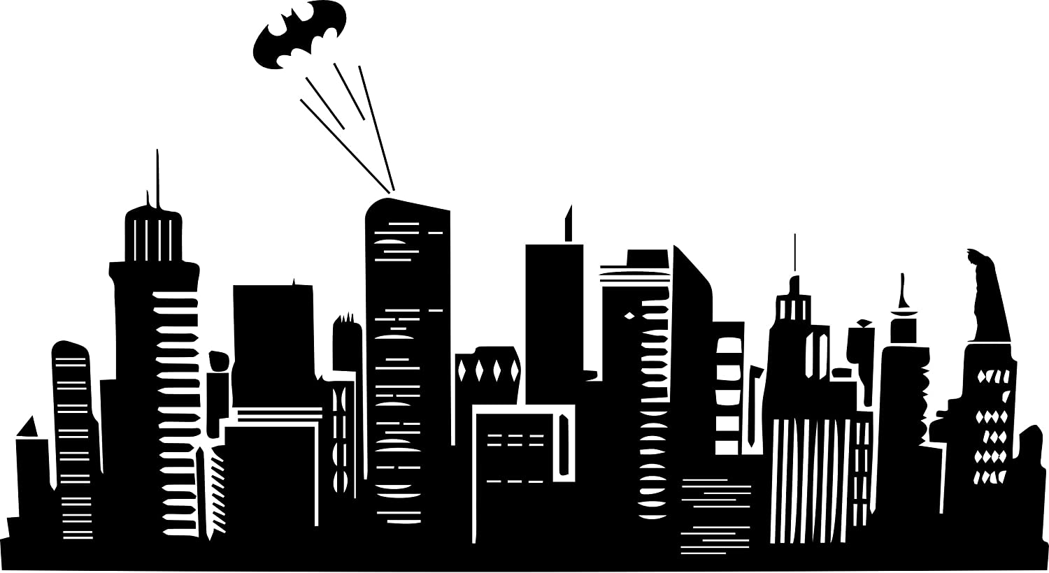 Amazon.com: Batman Inspired Gotham City Skyline Vinyl Wall Decal (22.5 Part 54
