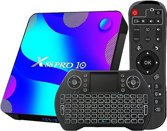 TV Box Android 11.0 4GB 64GB Decodificador Smart TV Box RK3318 USB 3.0 1080P Ultra HD 4K HDR 2.4GHz 5.8GHz BT 4.1 Reproductor Multimedia de ...