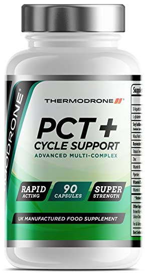 PCT Plus Cycle Support - 90 Veggie Caps - UK Manufactured Lab Tested -  Super Strength Cycle Therapy & Support Capsules - Professional Grade PCT  with