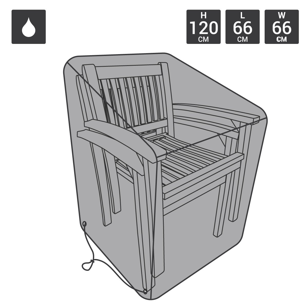 Bentley - telo protezione idrorepellente premium per sedie da giardino impilabili Charles Bentley
