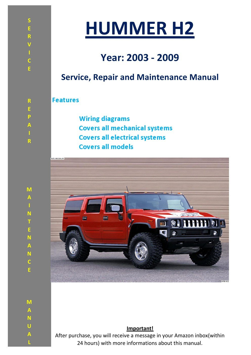 Hummer H2 From 2003 2009 Service Repair Maintenance Manual 03 Jeep Rubicon Suspension Diagram Softauto Manuals 5826002600438 Books