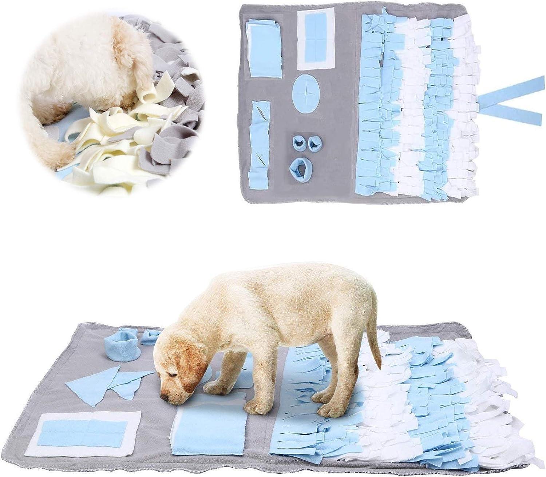 Sunshine smile Alfombra olfativa Perros,Snuffle Mat para Perros,Pet Nariz Trabajo Mat,Alfombrilla de Entrenamiento Interactivo para Perros,Alfombra de Actividades para Mascotas,Dog Snuffle Mat (Azul)