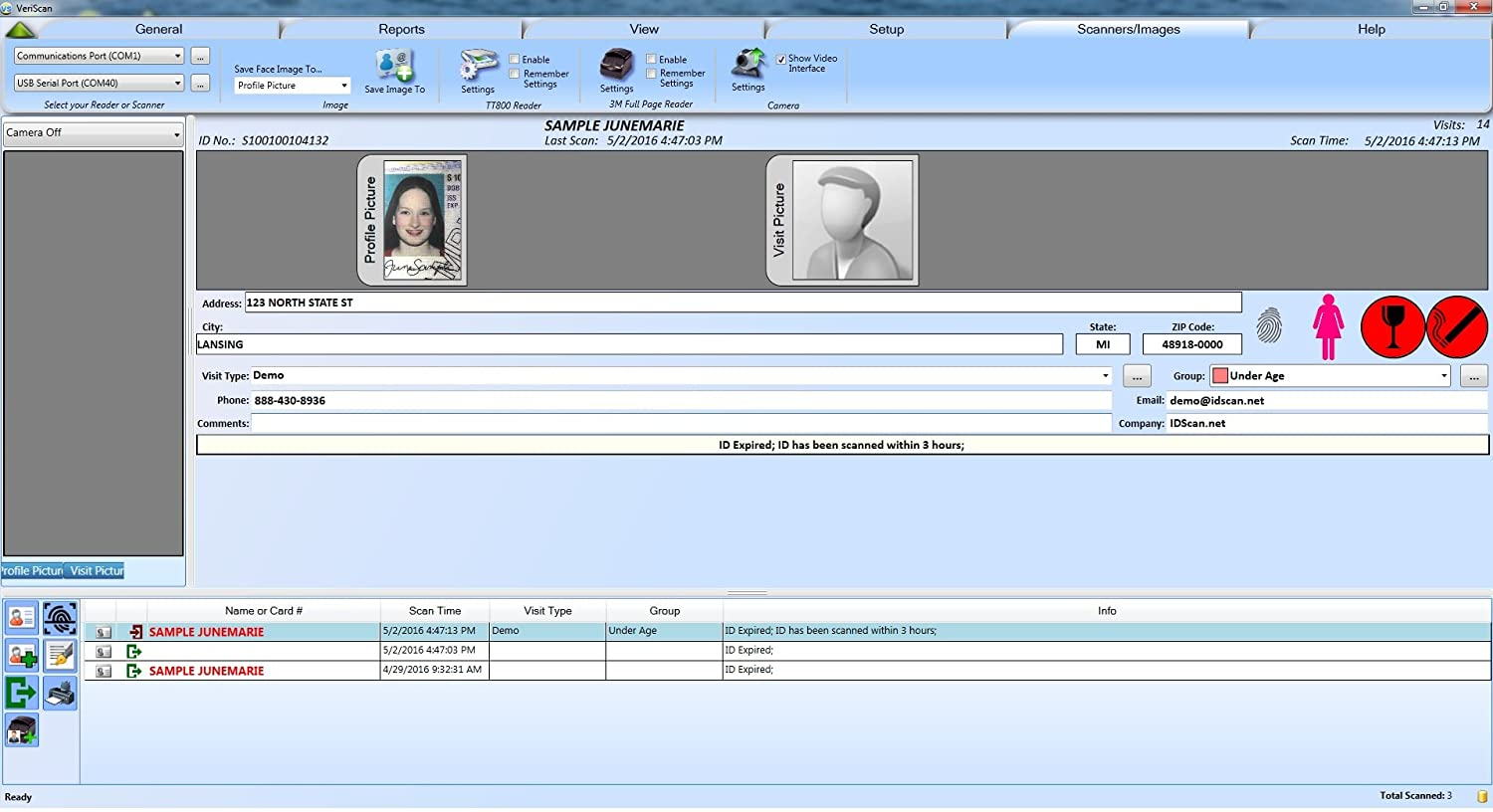 Details about VeriScan Age Verification and Visitor Management with M280 ID  Flatbed Scanner