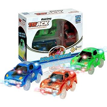 Kleinkindspielzeug MIGE Zug Auto Spielzeug Lokomotive Tarin Track Electric Auto Leuchten im Dunkel