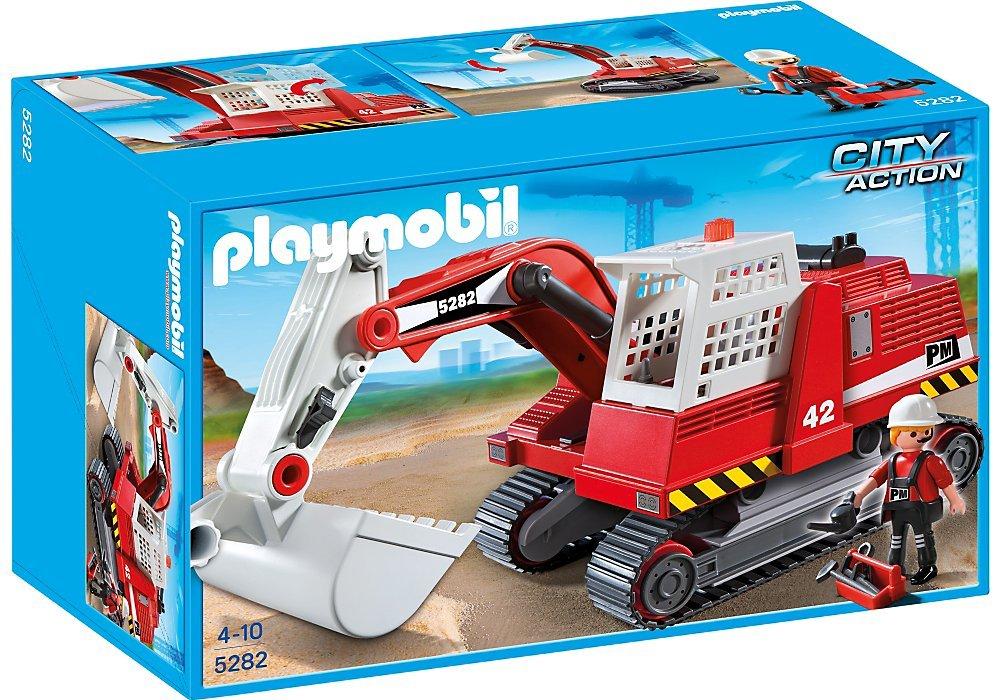 Playmobil Construccin  Excavadora de construccin 5282 Amazon