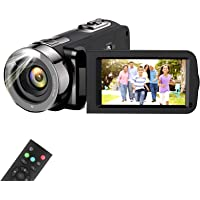 Video Camera Camcorder, wechi Full HD 1080P 15FPS 24MP Digital Camera Vlogging Recorder for YouTube 3.0 Inch Touch LCD…
