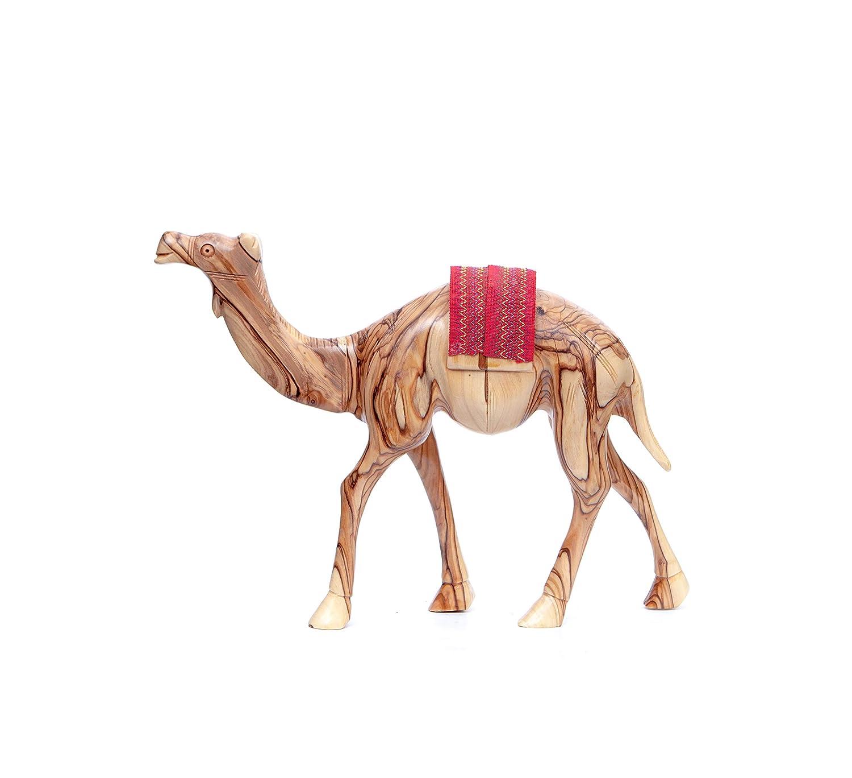 Amazon.com: Bethlehem Handicrafts Olive Wood Camel with Red ...