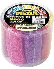 The Beadery US7313 Mega Bucket of Bands,Neon Multi,8000Piece