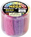 The Beadery Mega Bucket of Bands, 8000Piece, Neon Multi
