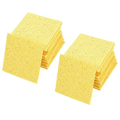 Aodesy Replacement Soldering Iron Cleaning Sponge Yellow 20Pcs Replacement Solder Tip Welding Clean Pads: Home Improvement