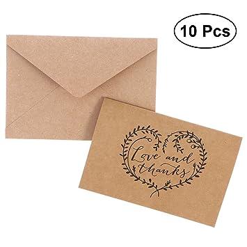 STOBOK 10 cartas de amor y agradecimiento de Kraft Kraft ...