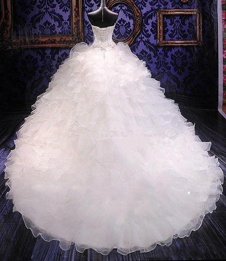 Siaoryne Sweetheart Wedding Dress Ruffle Organza Vestido De Novias Ball Gown at Amazon Womens Clothing store: