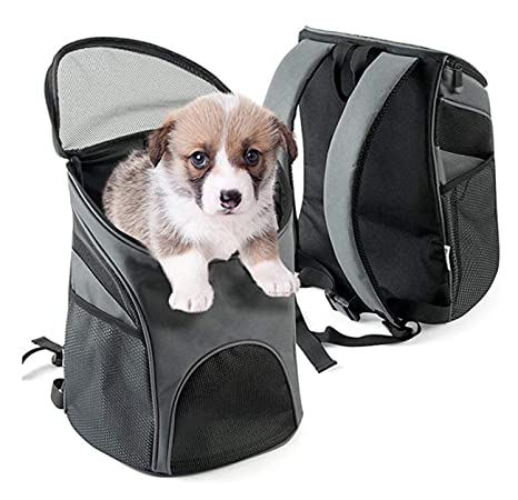 bae3e386a9 Pet Deluxe Dog Cat Carrier Hiking Backpack, Comfort Pet Carrier with Mat  for Small and Medium Puppy, Used for Travelling, Camping, Walking and  Outdoor, ...