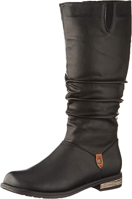 Rieker Damen Stiefel schwarz 93655 00