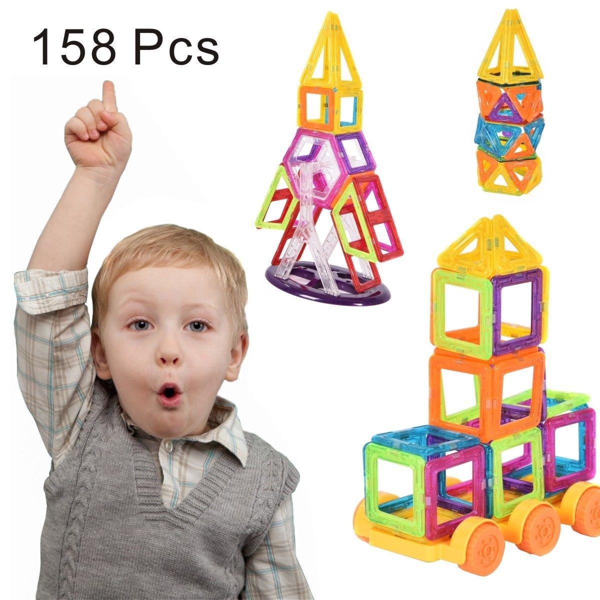 SpiritOne 158 Pcs Magnet Building Block Educational Toy for Kids