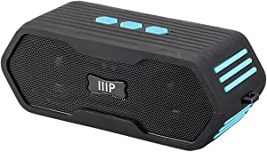 Monoprice Deep Blue Sub710 Portable Waterproof Bluetooth 4.0 Speaker - Black   Submersible IPX7 Rated, 10 Hour Battery Life, 65ft Wireless Range, Compatible with Apple, Android, Samsung, and Tablets