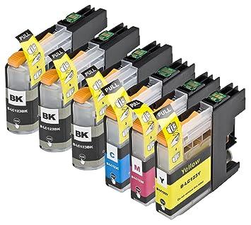 6 Multipack de alta capacidad Brother LC123 Cartuchos Compatibles ...