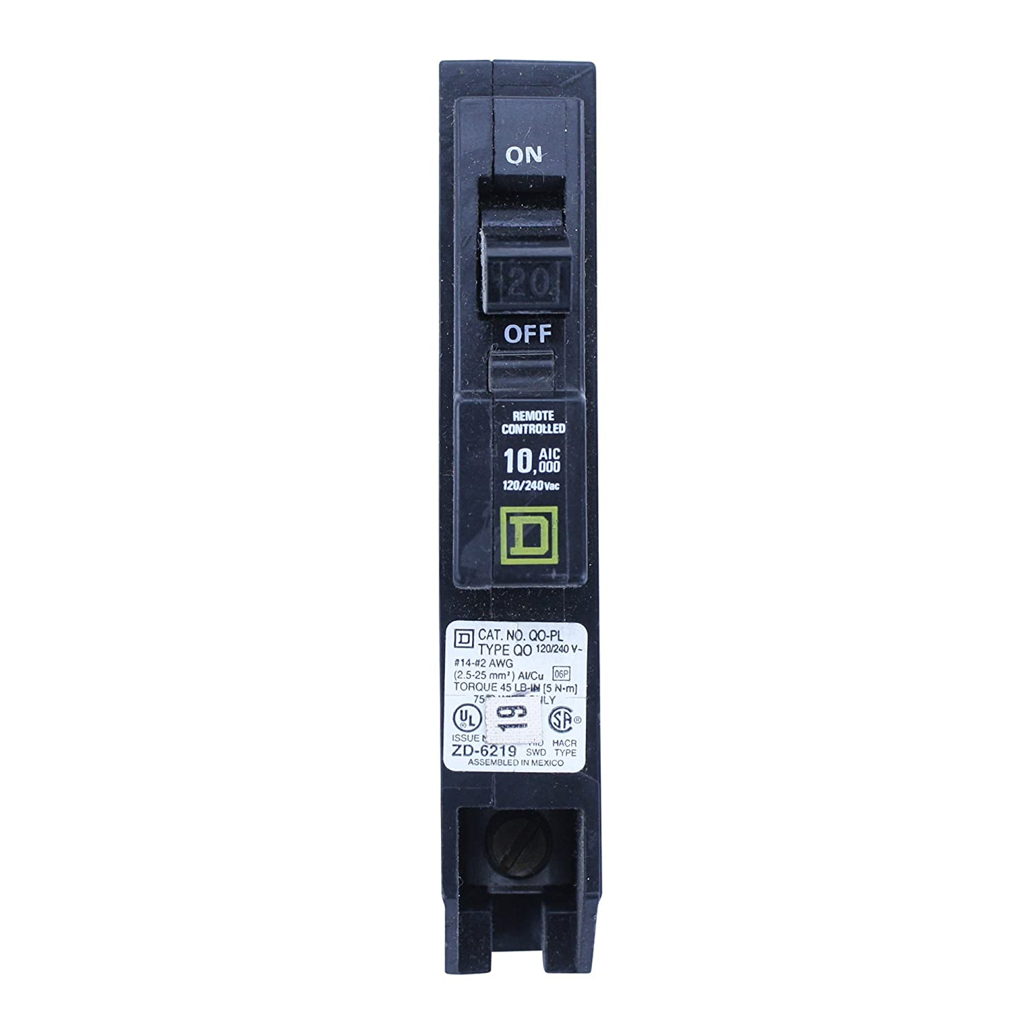 Square D Qo120pl Type Qo 1 Pole 20a 120 240v Remote Controlled Circuit Breaker A In Home