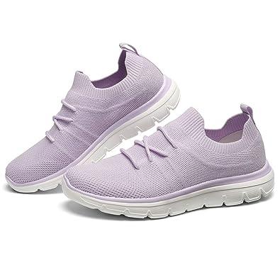 9335858d131da GM GOLAIMAN Women's Casual Walking Shoes Fashion Sneakers Flyknit Slip on  Sock Running Shoes