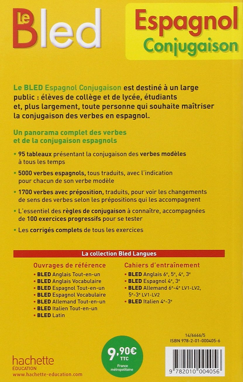 Bled Espagnol Conjugaison Amazon Fr Gonzalez Hermoso Alfredo Cuenot Jean Remy Livres
