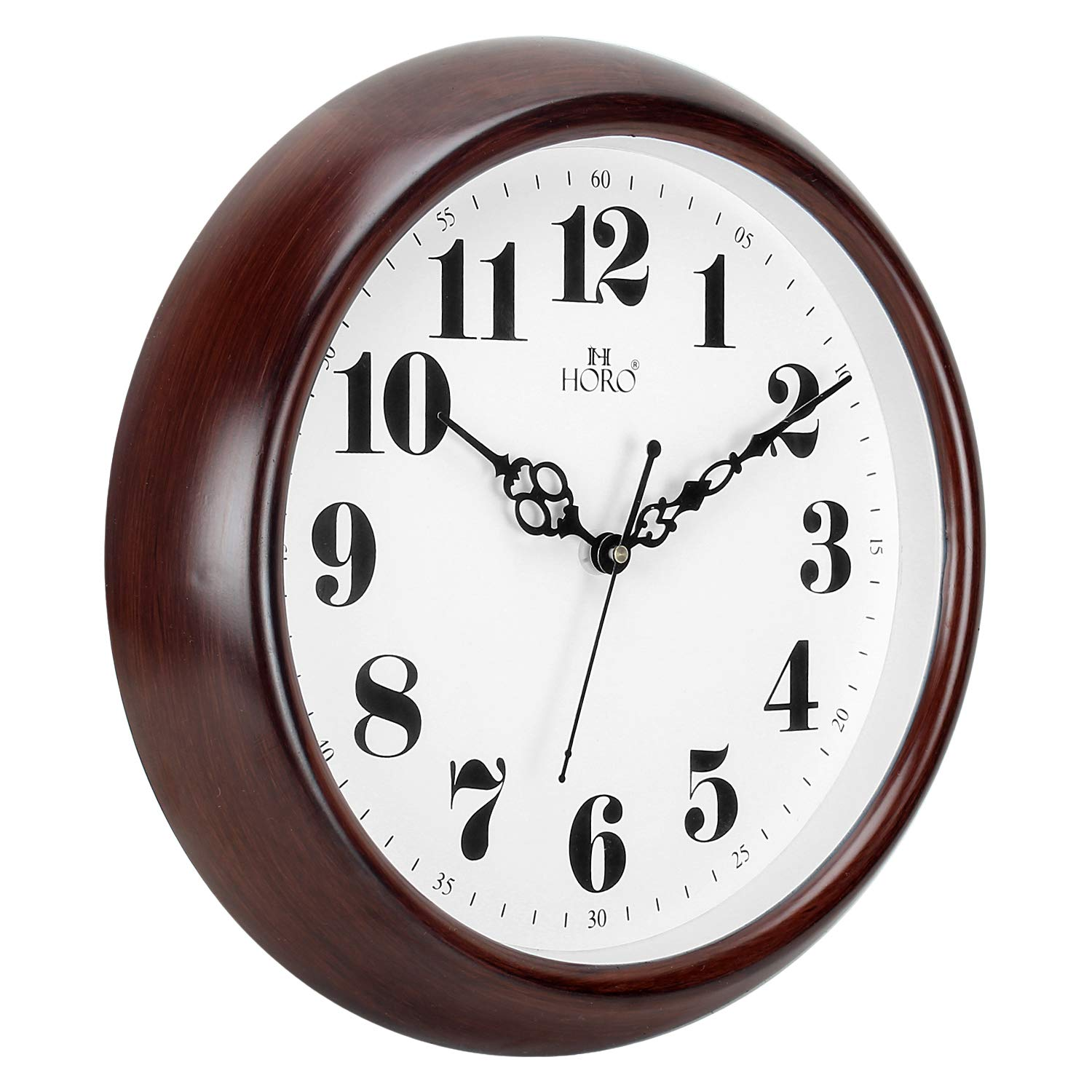 Horo (Imported) Plastic DEEP Brown Round Clock Step Movt  Number  Dial/Crystal Glass DEEP Brown Case/Plastic Case Analogue ⌀12