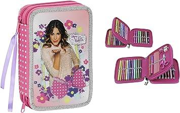 Violetta - Plumier Doble con 34 Piezas (SAFTA 411429054): Amazon.es: Equipaje
