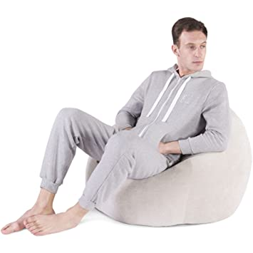 Groovy Lounge Pug Classic Soft Pastel Bean Bag Mink Size Large Machost Co Dining Chair Design Ideas Machostcouk