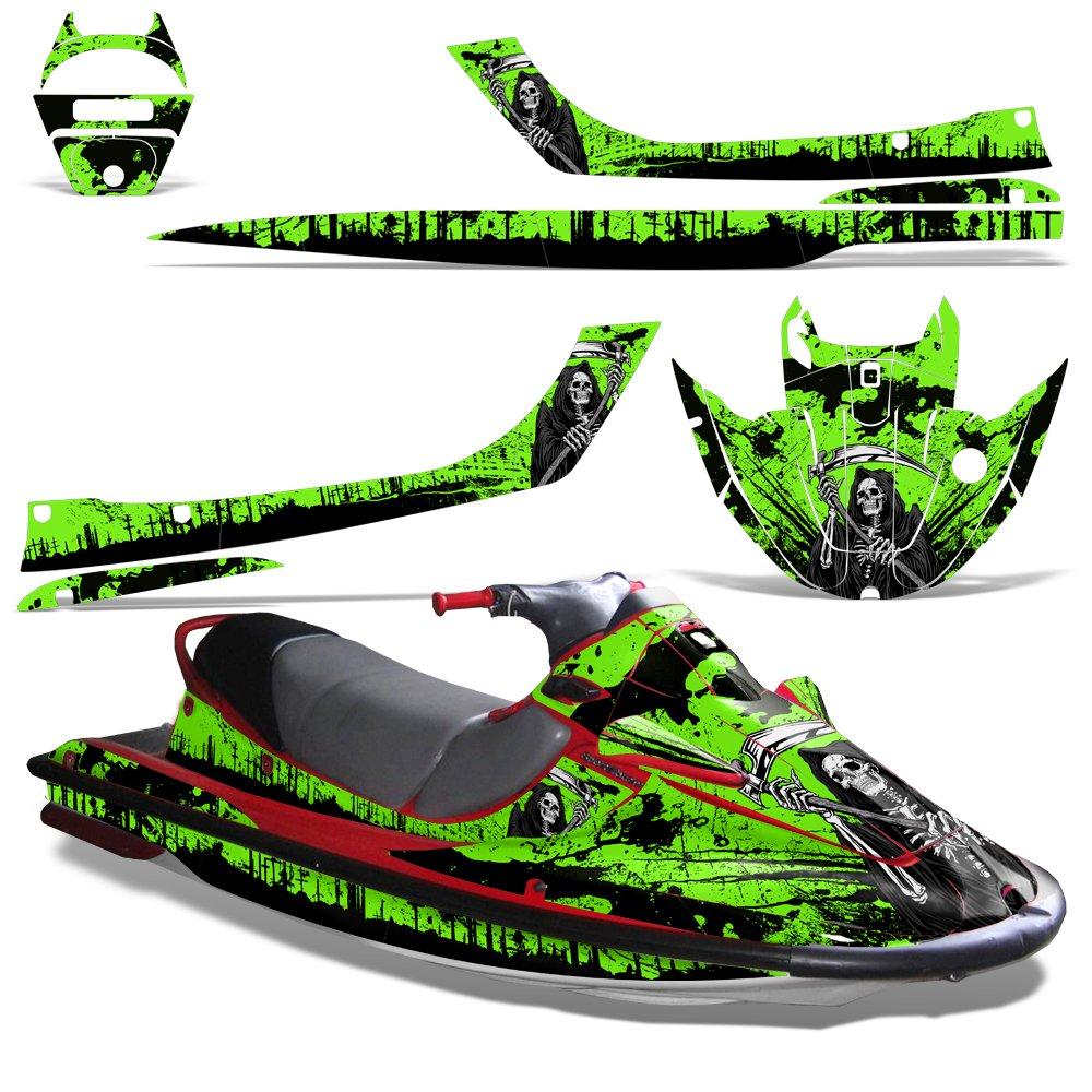 Kawasaki STX1100 Sport Tourer 1997-1999 Decal Graphic Kit Jet Ski Wrap STX 1100 REAPER GREEN by Wholesale Decals