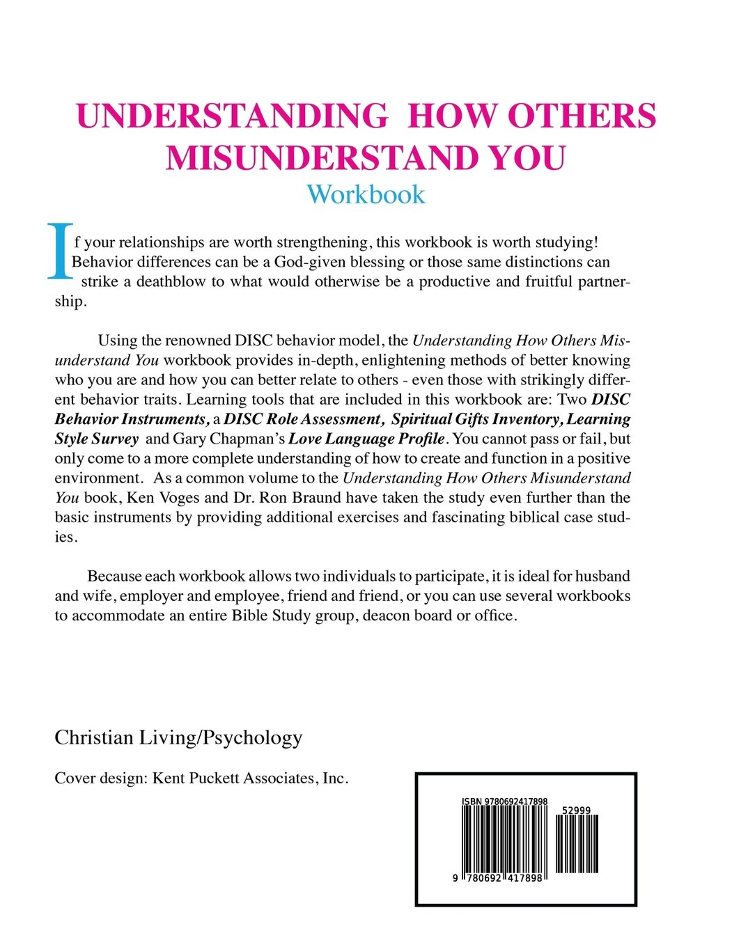 Workbooks christian workbooks for women : Understanding How Others Misunderstand You Workbook: A Unique and ...