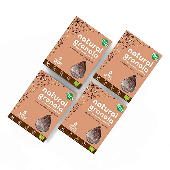 Granola Natural Athlete, Cacao, Coco Quinoa, Frutos Secos y ...