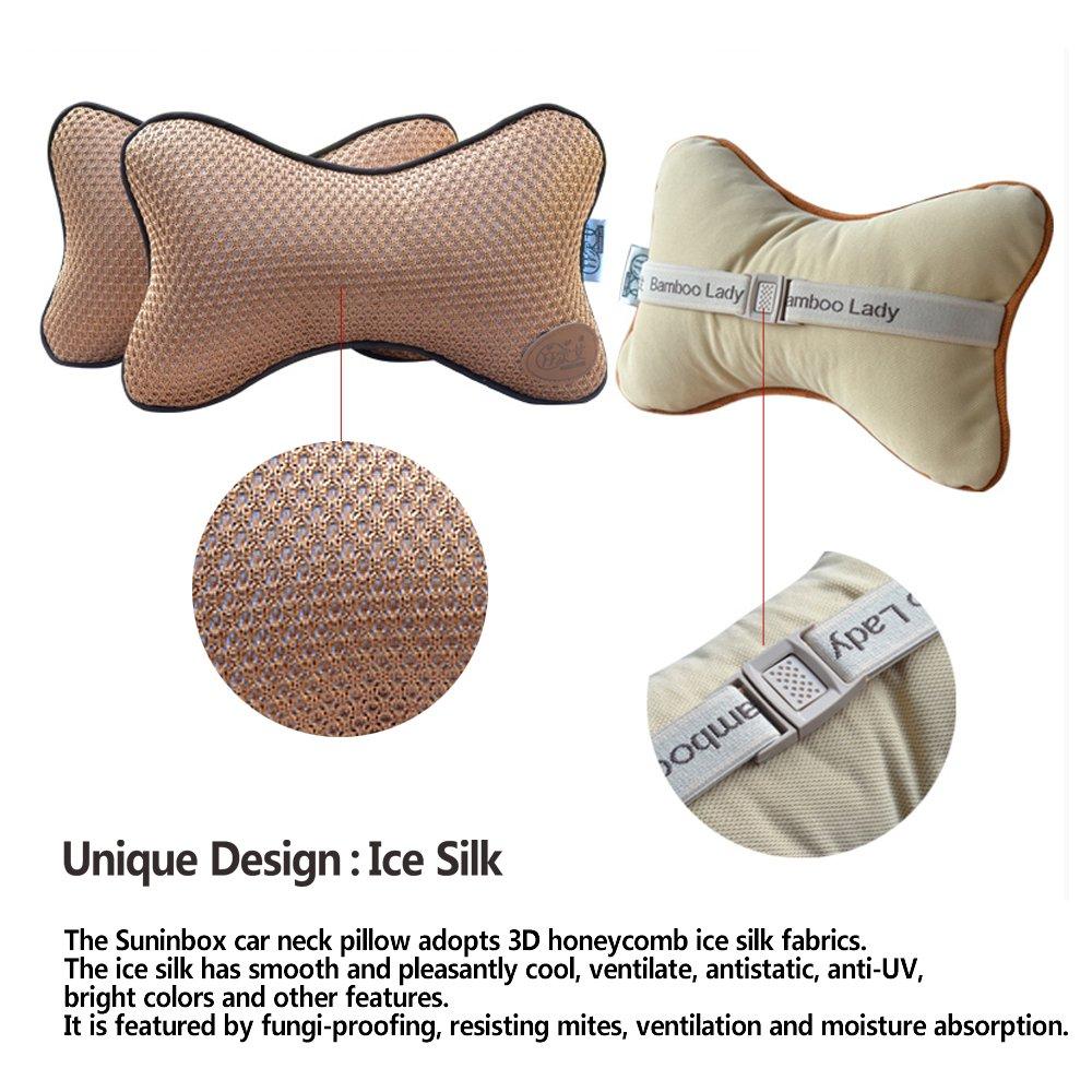 Amazon.com: Coche, almohada de cuello, suninbox seda de ...