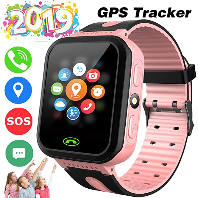 Kids Smart Watch Phone GPS Tracker for 3-14 Year Girls Boys Touch 2 Way  Call Screen Fitness Tracker with Camera Anti-Lost SOS Game Electronic  Learning