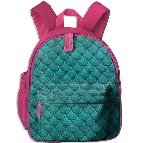 2808b8962f7e Amazon.com: Mermaid Scale Personalized Book Bag Cool Animal Kid's ...