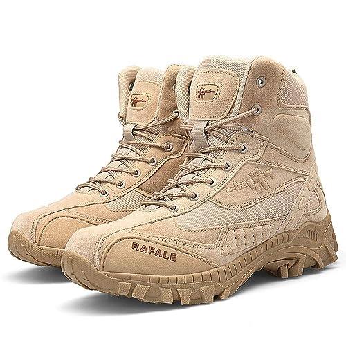 Zapatillas Deporte Hombres Zapatillas Hombre Hombres Bota Militar Táctico Desierto Combate Tobillo Barco Ejército Zapatos De Trabajo Botas De Combate: ...