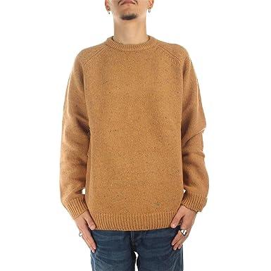 2183e9ec792d14 Carhartt Men's Jumper Brown Light Brown - Brown - XL: Amazon.co.uk ...