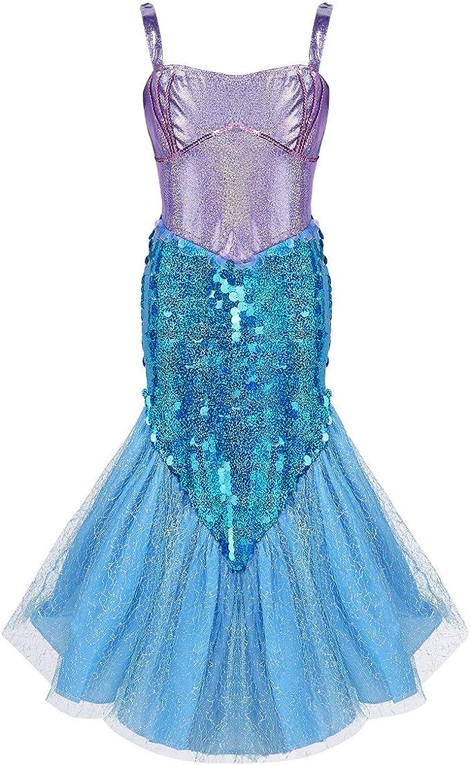 iiniim Vestido de Sirena Niña Vestido Largo Princesa Brillante sin ...
