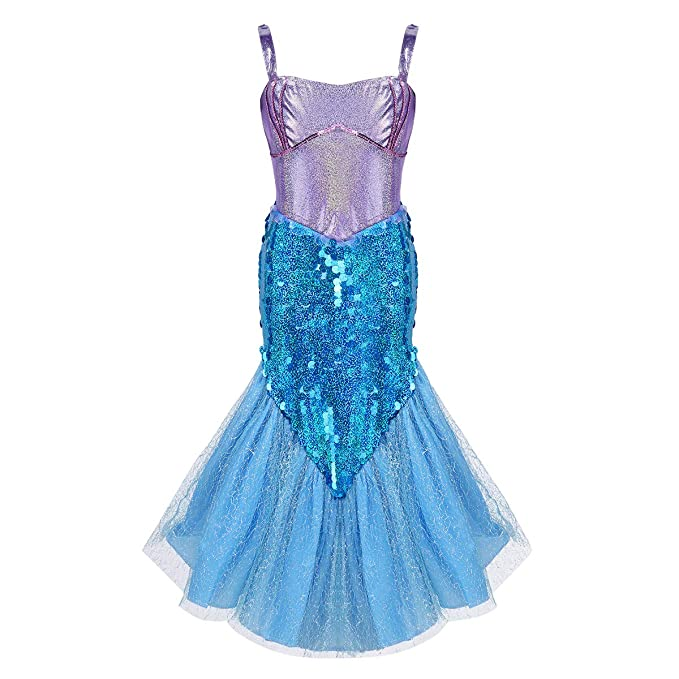 Amazon.com: CHICTRY Little Girls Princess Sequins Mermaid ...