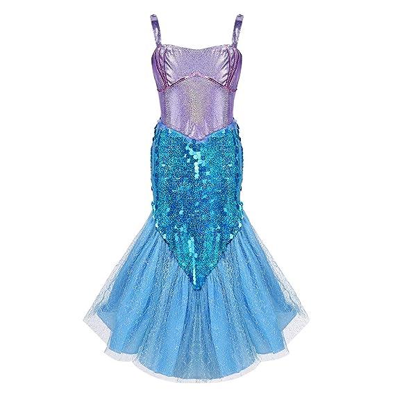 iiniim Vestido de Sirena Niña Vestido Largo Princesa ...