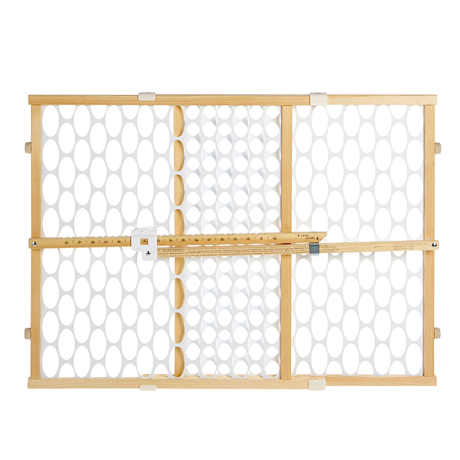 North States Quick-Fit Oval Mesh Gate, Natural/White 864660