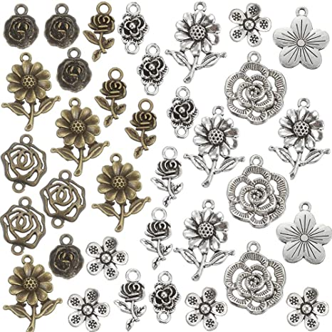 Antique Plated Punk Charms DIY Pendants 100 Grams Jewellery Craft Design